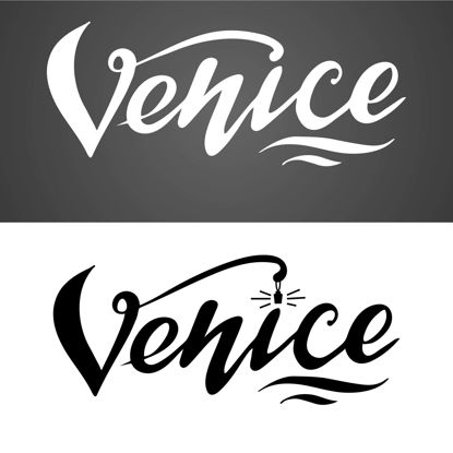 Venice hand lettering. Digital download. Lettering for printing. Logo for travel agency, booklet, pamphlet, advertising booklet