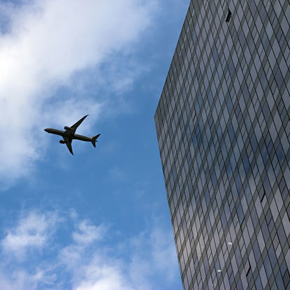 Buildings and airplanes
