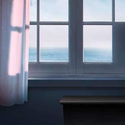 Creative picture of the sea outside the window