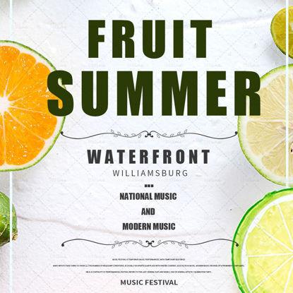 夏のジュースドリンクポスター