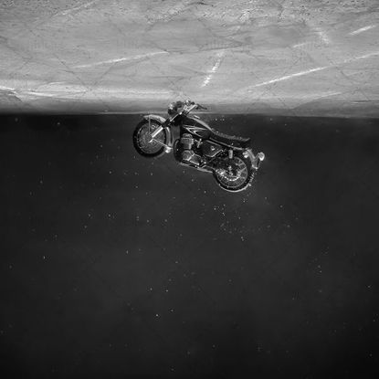 Motorcycle In the water photos