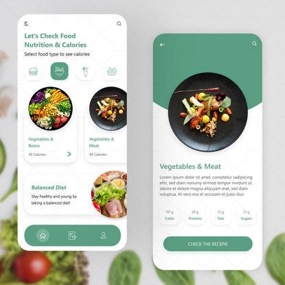 Nutrition App Design UI UX
