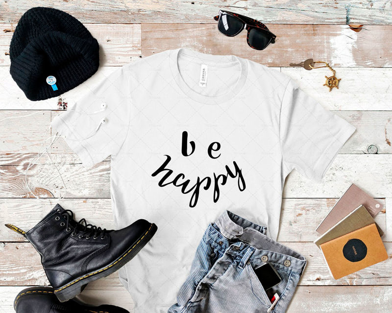 Be happy hand lettering Digital download Lettering for printing