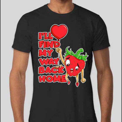 Strawberry finding home Design for T-shirt Printing