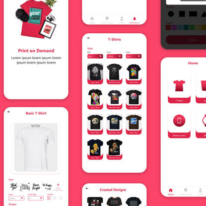 Print on Demand App Design
