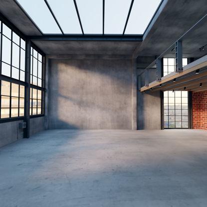 Industrial Loft Interior Scene 3D Model