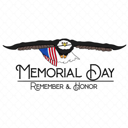 USA Memorial Day celebration banner Remeber and honor with a eagle and a flag of usa