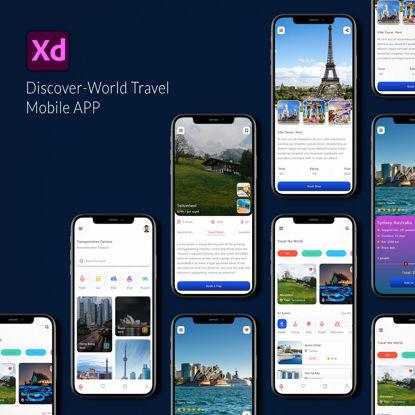 Discover World Travel APP UI Kit