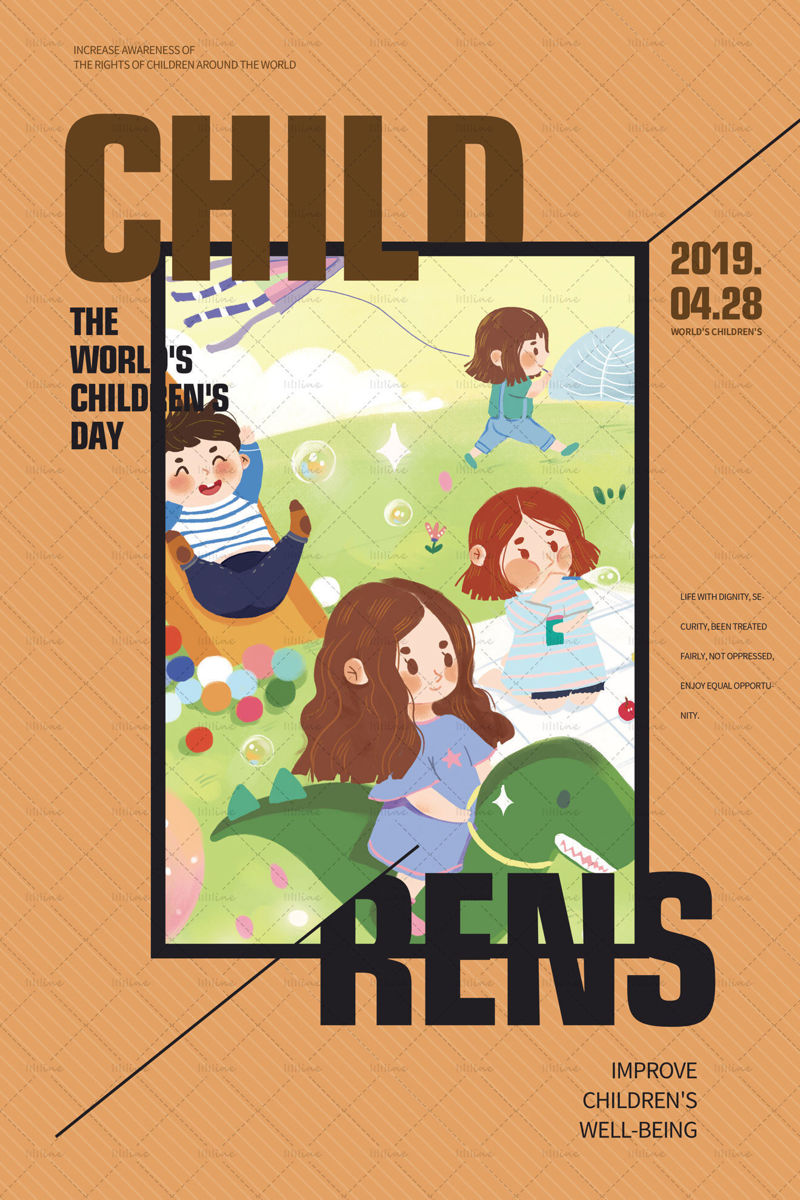 Affiche voor Internationale Kinderdag