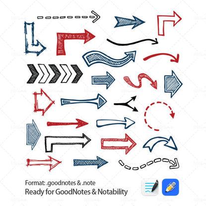 Nyil elemelemek a GoodNotes és a Notability számára