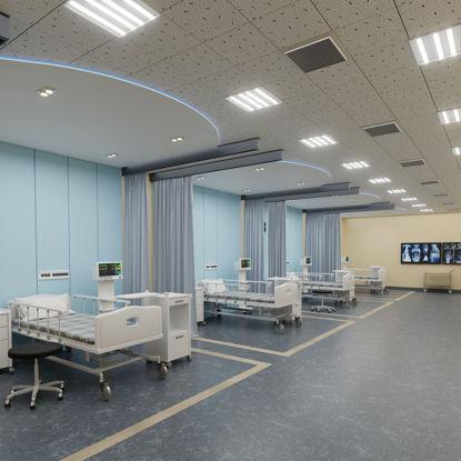 نموذج وحدة العناية المركزة للمستشفى ثلاثي الأبعاد