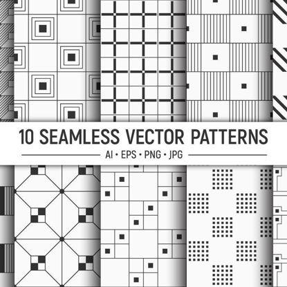 10 الگو مربع بردار هندسی بدون درز