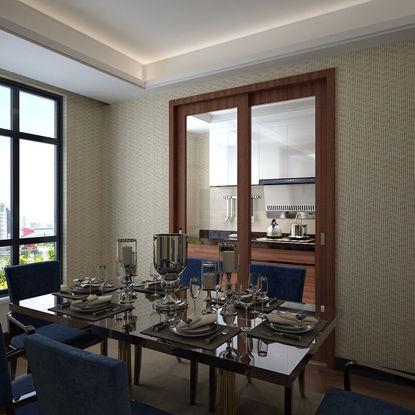 مطبخ مطعم نموذج ثلاثي الأبعاد نوع المشهد