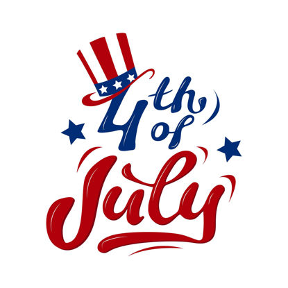 4th of July Independence Day greeting card Vector