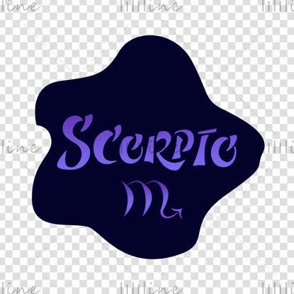 Scorpio zodiac sign Vector hand lettering