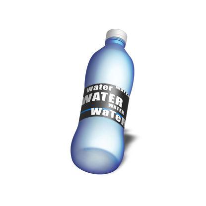 Water bottle PSD mockup