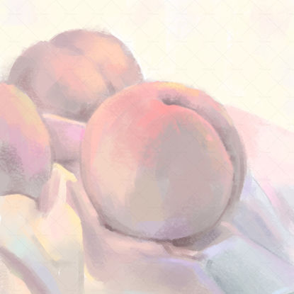 Colorful peaches drawing