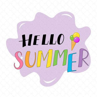 Hello Summer Season Vector and Clip Art