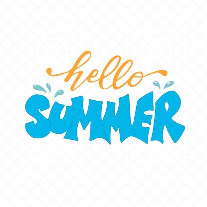Hello Summer Season Vector  Clip Art