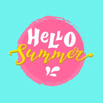 Hello summer, digital hand lettering