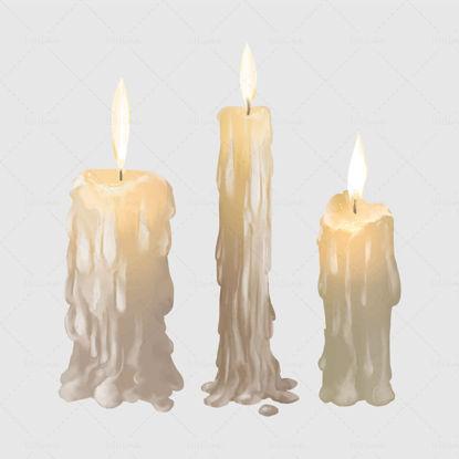 كارتون واقعية شمعة عيد الميلاد موضوع المواد