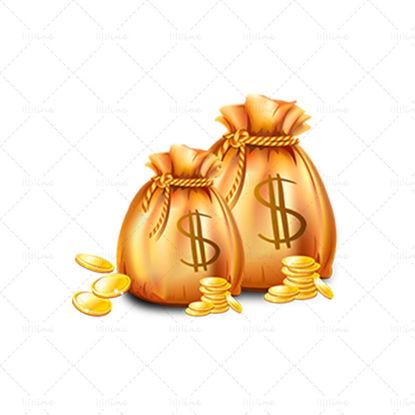 Moneta d'oro denaro borsa finanza png
