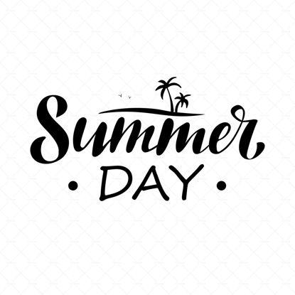 digital handwriting lettering Summer day