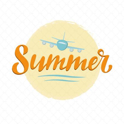 Summer digital handwriting lettering font