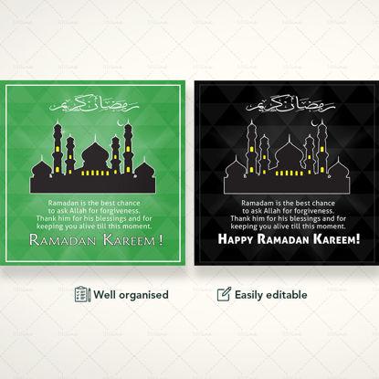 Ramadan Kareem Banner Pack PSD