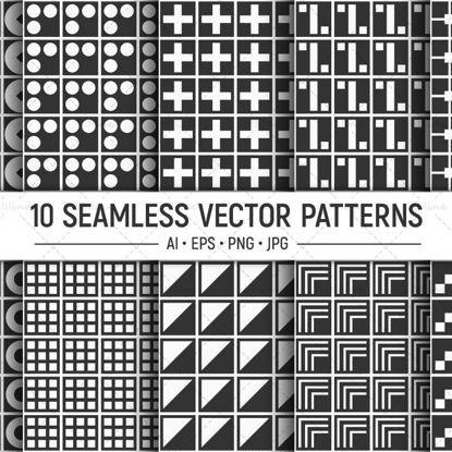 10 شکل هندسی الگوی برداری بدون درز