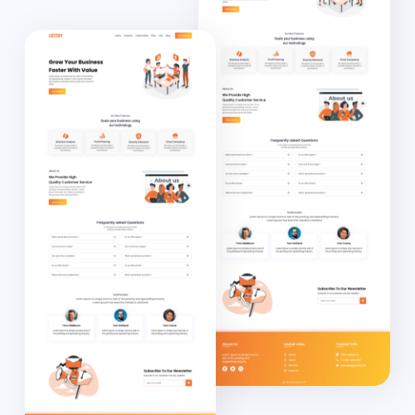 Lozzby Landing Page ui design
