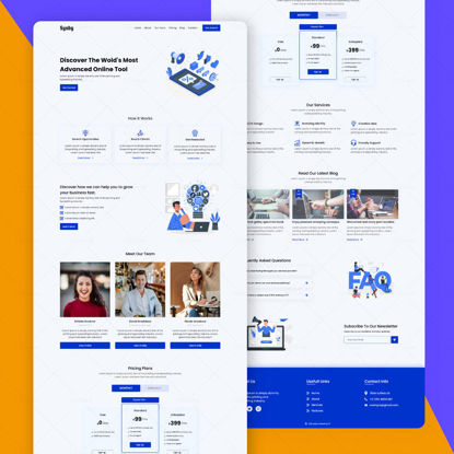 Sysby Landing Page ui design