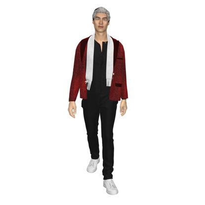 Виртуальная одежда 3d-дизайн для мужчин
