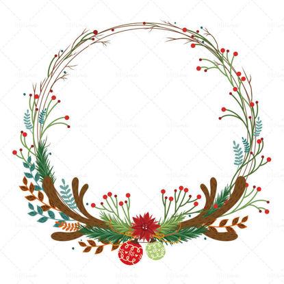 قرون عيد الميلاد فروع إكليل الشتاء