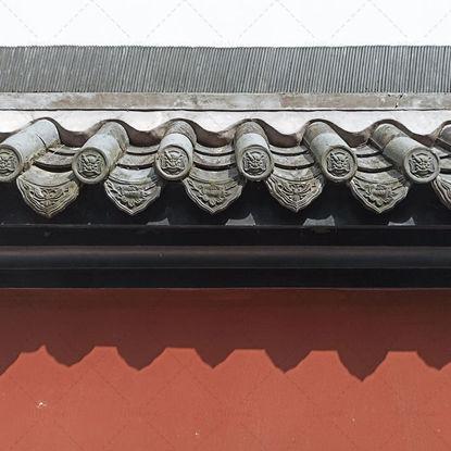 Clôture et avant-toit de style chinois