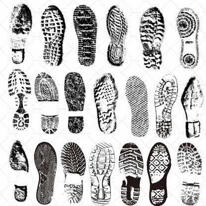 Spazzole PS per impronte di scarpe