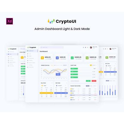 CryptoUI - Cryptocurrency Admin Dashboard