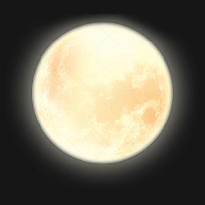 Realistic moon decoration pattern