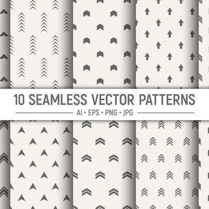 10 безшовни геометрични стрелки векторни модели