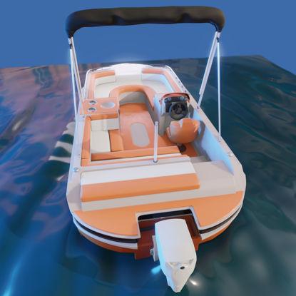 Палубна лодка 3d модел