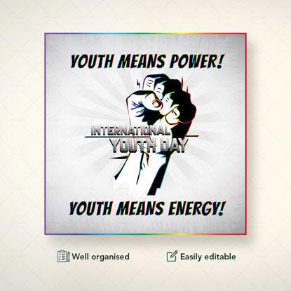 Plantilla de banner del Día Internacional de la Juventud de Zazzy