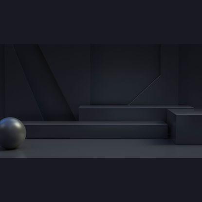 Сцени Черен щанд 3d модел
