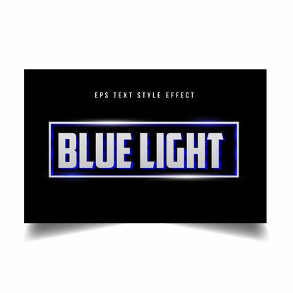 Ефект на стил на текстова редакция на синя светлина