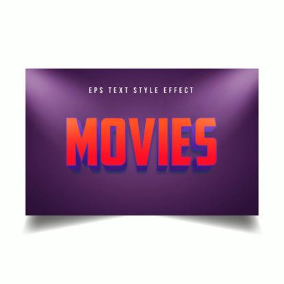 Филми Червен 3D Редактируем текстов стил ефект с прожектор