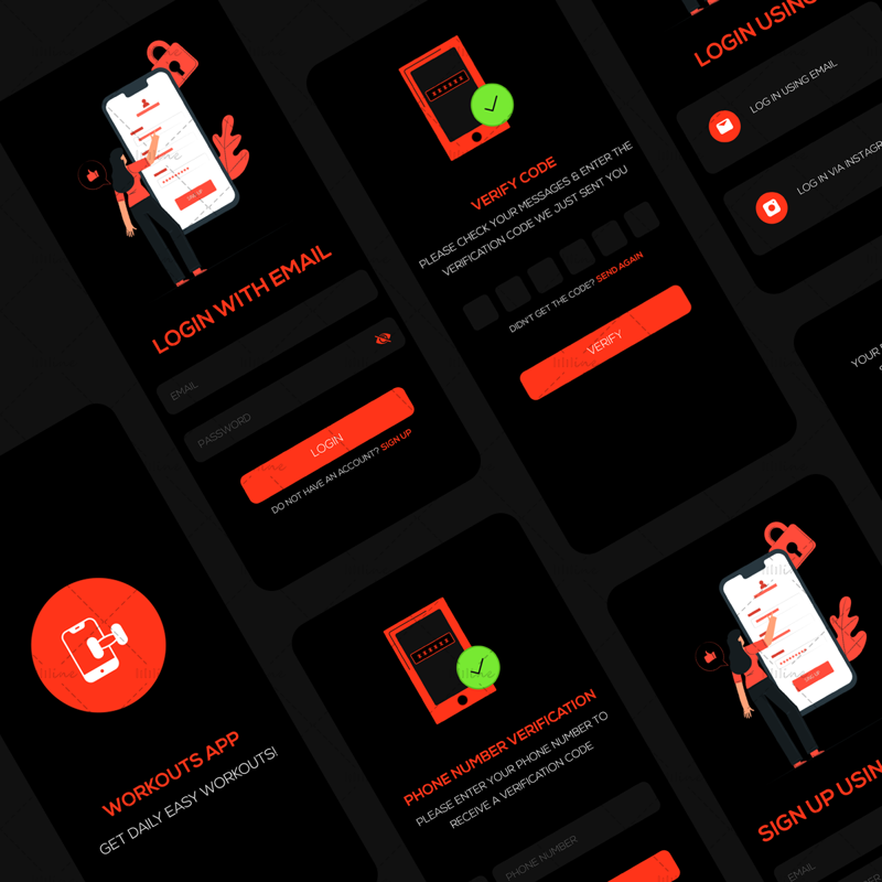 Workout App Initial Screens