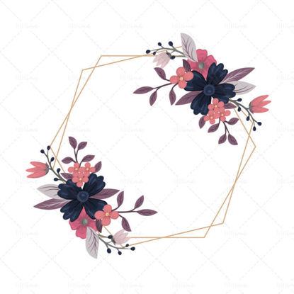 Вектор цвете лоза цвете граница