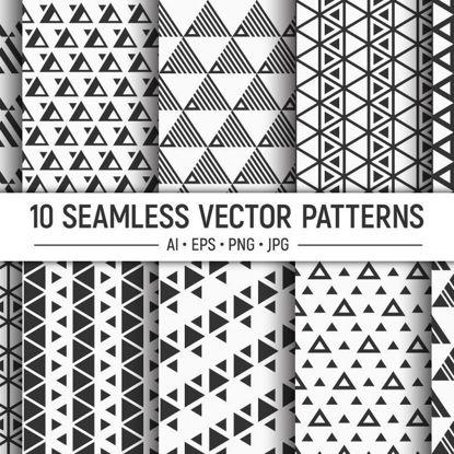 10 безшовни векторни триъгълника