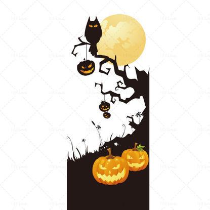 Halloween vector material