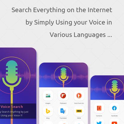Voice Search App UIUX