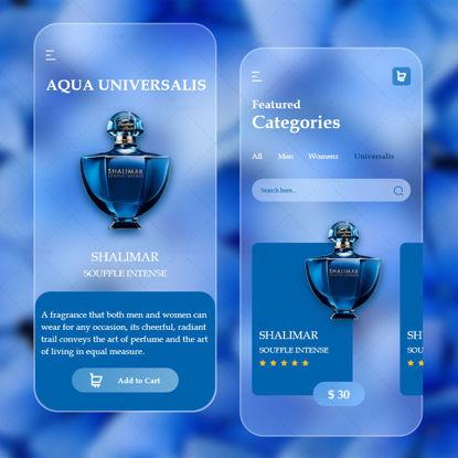 Perfume App Glassmorphism